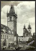 AK Prag Altstädter Rathaus und Teinkirche    x40