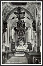 AK D. Reich v. 1937  Kath. Pfarrkirche Grassau    32/22