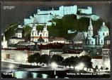 AK Salzburg bei Nacht    24n