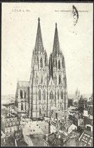 AK Deutsches Reich 1912 Kölner Dom Westseite   13/36