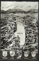 AK Landkarte Panorama vom Ammersee    q10