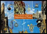 AK Mehrbildkarte, die schönsten Ausleger in Rothenburg   70/13