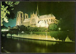 AK Paris Notre-Dame illuminée et la Seine    t 31