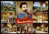 AK Mehrbildkarte vom Königsschloss Neuschwanstein   73/16