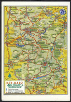 AK Landkarte Der Harz Auto u. Radfahrkarte    q18