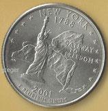 QUARTER DOLLAR - New York von 2001  -   1x
