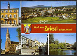 AK Zwiesel, Bayer. Wald, Mehrbildkarte    4p