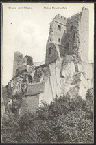 AK Gruß vom Rhein, Ruine Drachenfels   30/33