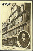 AK Deutsches Reich Frankfurt a.M. Goethehaus    21i