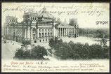 AK Deutsches Reich, Gruss aus Berlin, Reichstagsgebäude    87j