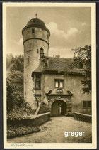 AK Mespelbrunn i. Spessart, Schlosseingang    95k