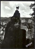 AK Karlovy Vary Gemse unter dem Hirschsprung    x43