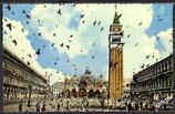 AK Venedig San Marco Platz fliegende Tauben    42/12