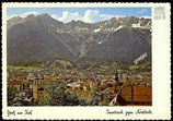 AK Alpenstadt Innsbruck, Blick vom Berggipfel gegen Nordkette    8-l