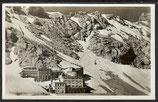 AK Deutsches Reich l941 Bayr. Zugspitzbahn Hotel Schneefernerhaus 9/40