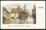 AK Blick v.d. Museumsbrücke in Nürnberg     31j