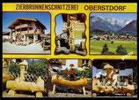 AK Oberstdorf, Zierbrunnenschnitzerei   68/7