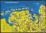 AK Landkarte Nordsee    q7