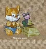 Miezi Cats von 1998  - Miezi und Mausi   -  mit BPZ   - 5x