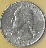 QUARTER DOLLAR  von 1993  - George Washington / Adler  - 1x