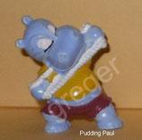 Happy Hippos im Fitness Fieber  von 1990  - Pudding Paul - ohne BPZ  -  4x