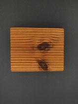 Seifenschale eckig aus Thermo-Holz (Fichte / Kiefer)