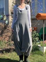 Froeken Frida Sweaty Knoten-Haremslatzhose, grau, BIO