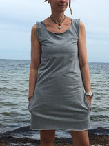 Froeken Frida Jersey Kleid Käthe BIO, grau