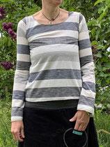 Froeken Frida Jersey Shirt Paula, grau gestreift