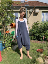 Froeken Frida Neckholder-Overall blau, bio, Jersey