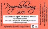 Propolis-Lösung 20%, verschiedene Größen