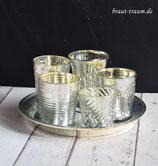 5er Set Teelichter, gemischt