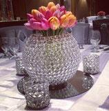 Kristall Leuchter oder Vase inkl. Spiegeluntersatz, Mietartikel, Verleihpreis!