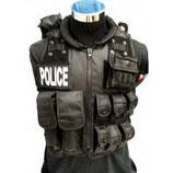 CHALECO TACTICO POLICIAL NEGRO 2165CZ