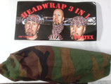 HEADWRAP 3 EN 1 CAMO WOODLAND