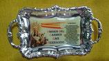 BANDEJA PEQUEÑA 14X8 CM  con Salve marinera (Virgen del Carmen o Elcano logotipo)