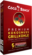 CocoBeach Premium Grillkohle