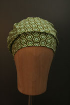 Beanie grün gemustert