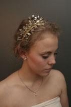Tiara Kristall auf gold