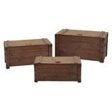 set 3 bauli legno