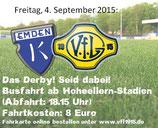 Busfahrkarte Germania-Fanbus zum Derby BSV Kickers Emden - VfL Germania Leer