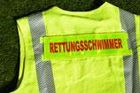 """Rückenschild """"RETTUNGSSCHWIMMER"""""""