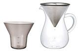 Kaffee-Karaffen-Set Edelstahl 600 ml von Kinto