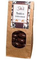 Mandeln in Zartbitterschokolade
