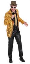 Goldige Glitzer Jacke für Schlager etc. Grösse XL