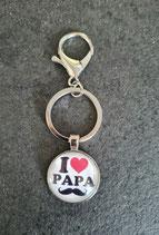 Porte-clé I LOVE PAPA