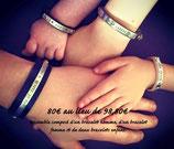 Bracelets homme + femme + 2 enfants