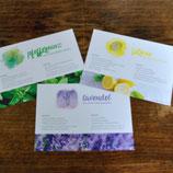 Postkarten Trio (Lemon, Lavendel, Pfefferminz)