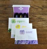 Postkarten Trio inkl. Ölen (Lemon, Lavendel, Pfefferminz)