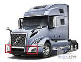Volvo VNL 2018+ Corner Bumper Chrome Trim 82750054, 82750058